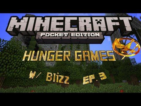Hunger Games Ep. 3 w/ Blizz - Minecraft Pocket Edition