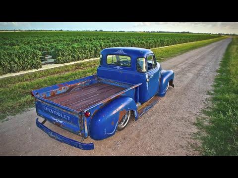 Patina truck, bagged truck, rat rod truck  - Ol Blue 52 Chevy 3100