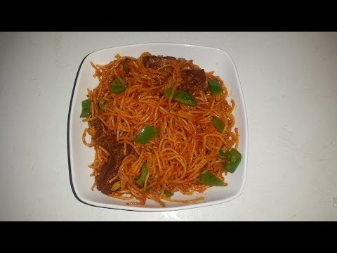Jollof Spaghetti Recipe - Collaboration Video with AdomHomeCooking