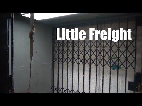 TINY Vintage Montgomery Hydraulic Freight Elevator @ Century II - Wichita, KS
