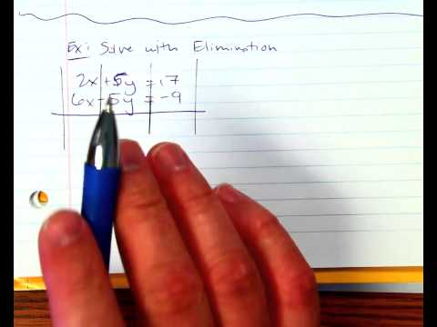 Solving with Elimination Method