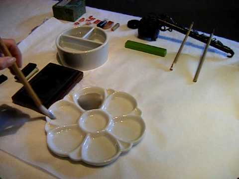 Sumi-e: mixing tones for your Japanese brush painting