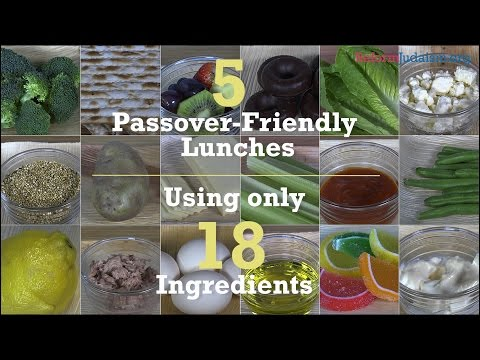 5 Passover-Friendly Lunches Using Only 18 Ingredients