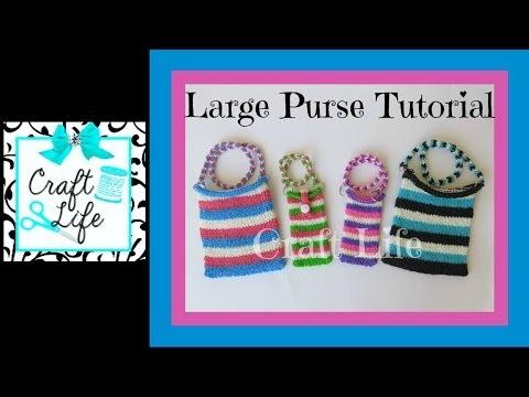 Craft Life Large Rainbow Loom Purse Tutorial ~ Tablet Sleeve