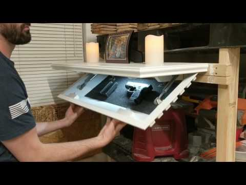 PLX Wood Concealed Gun Shelf