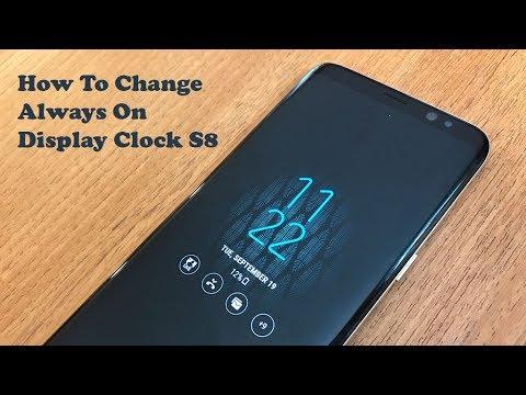 Samsung Galaxy S8 How To Change Always On Display Clock - Fliptroniks.com