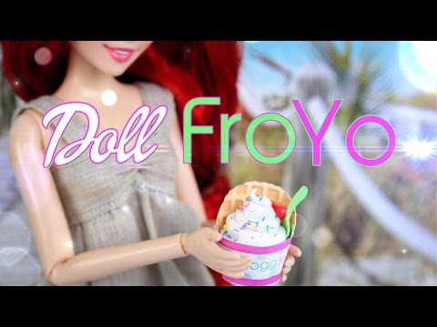 DIY - How to Make Doll Food: FroYo - Handmade - Doll - Crafts
