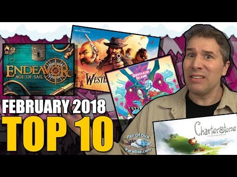 Top 10 most popular board games: February 2018