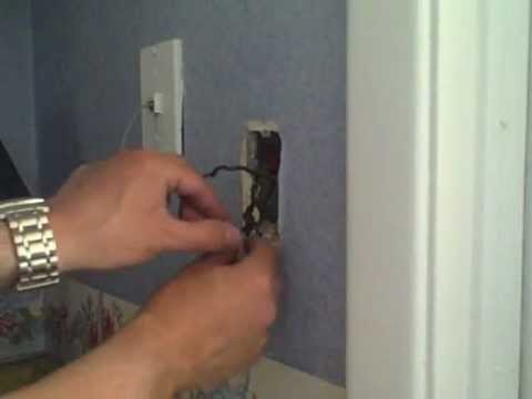 How to install a Dimmer Switch -  almost. (shows what can go wrong)
