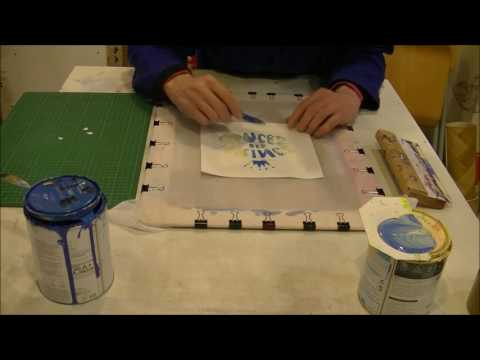 Screen printing with paper stencil