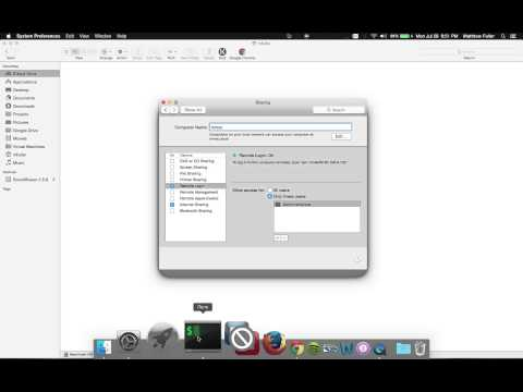 Mac OS X - How to Share Files Remotely with SSH and SFTP