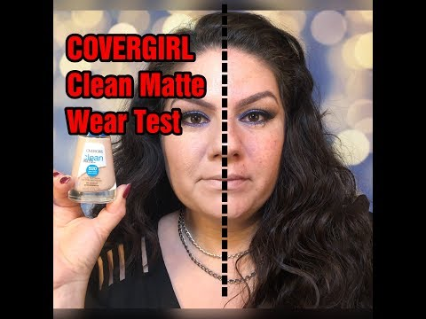 COVERGIRL CLEAN MATTE OIL CONTROL WEAR TEST
