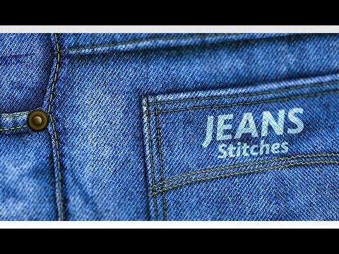 Jeans Stitches Design | Photoshop Tutorial