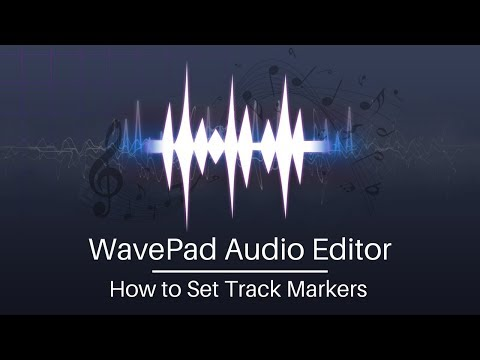 WavePad Audio Editing Tutorial   How to Set Track Markers