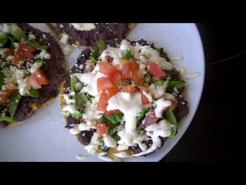 Refried Bean & Cheese Tostadas   Mexican Food Recipe   Quick & Easy Dinner   Bea Gunn