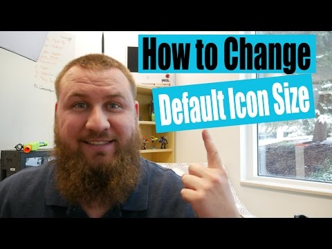 How to change default icon size in windows os. Beginner techniques