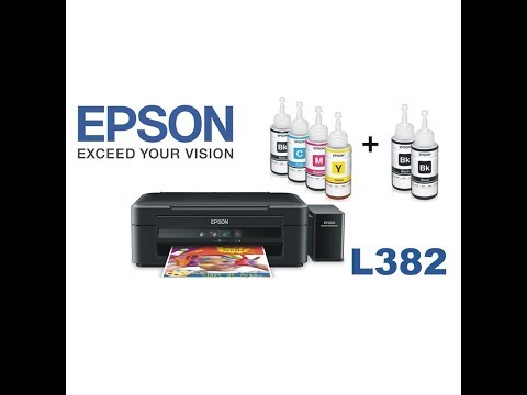 Epson l382 Ink Printer unboxing and Installation full hand review