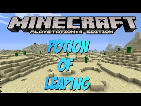 Minecraft PS4 & XBOX 1: How To Make A Potion of Leaping