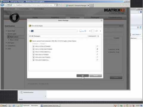 Matrix42 Enterprise Manager and SCCM2012: Software Push Rollout