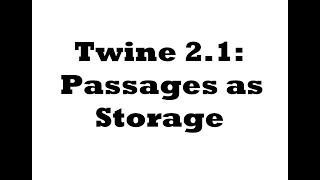 Twine 2 0: Header, Footer, and Startup tags in Harlowe 1 0 - PakVim