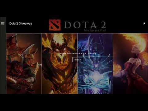 Dota 2 GiveAway Items Immortal and Arcana 2018