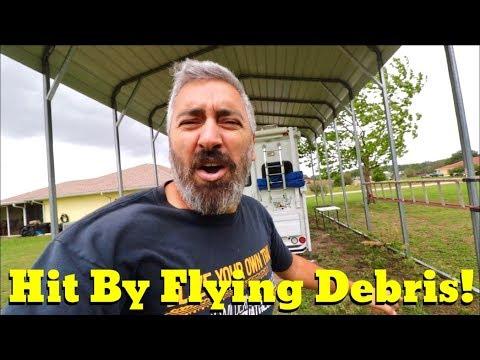 Van Life; Inverter-Surprise Revealed-Hit By Flying Debris! The Lance Camper Solar Project! Part 6