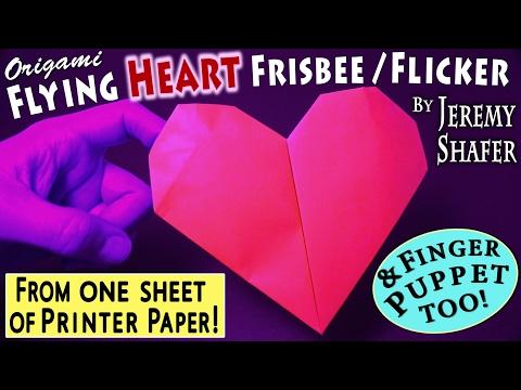Origami Heart Frisbee