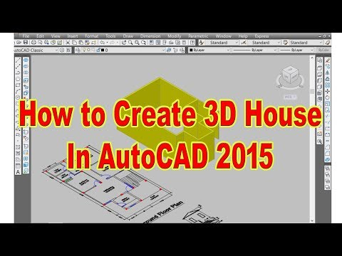 Autocad 2016 3D House Modelling ||Tutorial ||