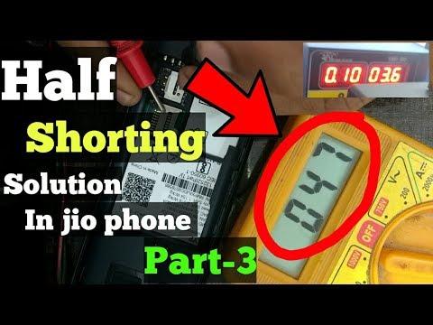 Jio phone half shorting remove !! Explained in hindi