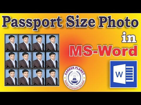 Passport Size Photo Using MS Word in Hindi| How to Create Passport Size Photo in Word