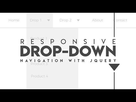 Responsive DropDown Menu JQuery | HTML, CSS & JavaScript