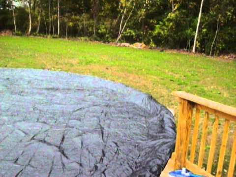 Above Ground Pool Cover Installation