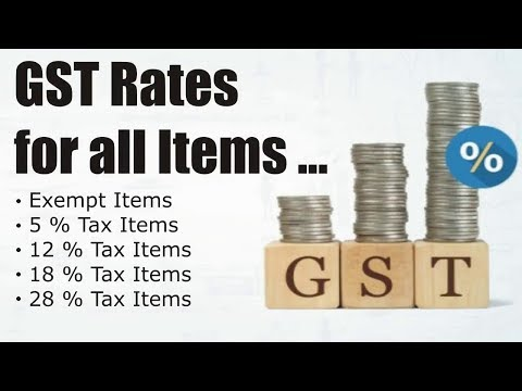 Goods and Services tax bill in 2017 in india