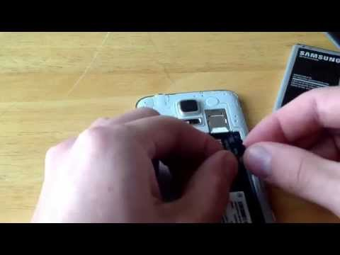 Samsung Galaxy S5 - How to insert / eject the memory card