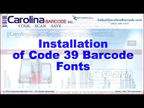Code 39 Barcode Font Installation