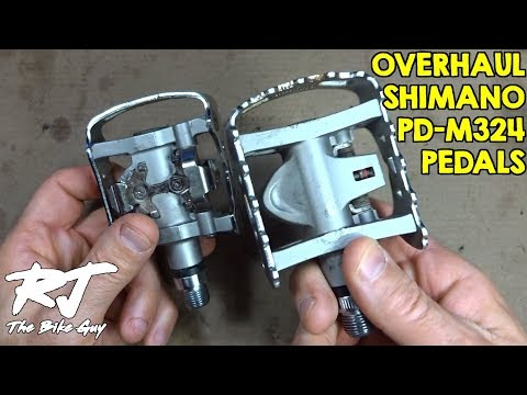 Shimano PD-M324 Pedal Overhaul - Clean/Lube/Install New Bearings