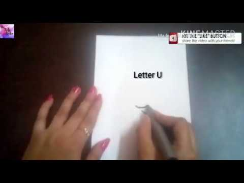 How to turn U letter into Cute Cartoon Kettle!! Fun with Alphabets for Kids || by The Arts Center