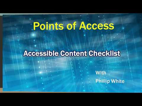 Faculty Accessibility Checklist: 5. Text Background Contrast  Part A