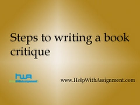 Steps to writing a book critique