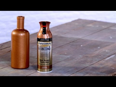 Make it Yours: How to Spray Paint a Glass Bottle