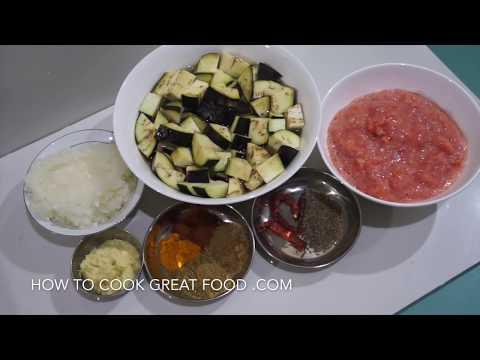 Eggplant & Tomato Curry Recipe - Vegan Aubergine