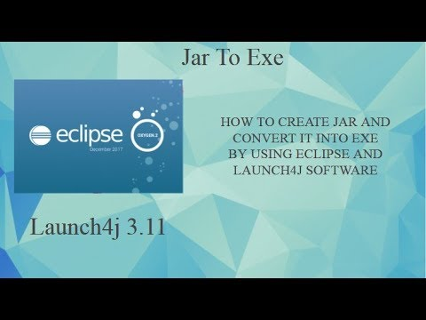 HOW TO CREATE JAR IN ECLIPSE AND CONVERT INTO EXE