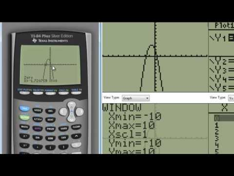 Using TI83 to find vertex and intercepts of a quadratic function
