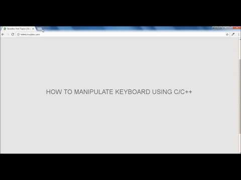 Manipulating keyboard using C/C++