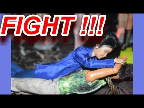 Dollswillbedolls Javon and Jason Fight ~ Doll Stop Motion