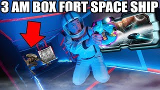 3AM BOX FORT SPACESHIP CHALLENGE!! 📦😱Scary Aliens, Space & More!