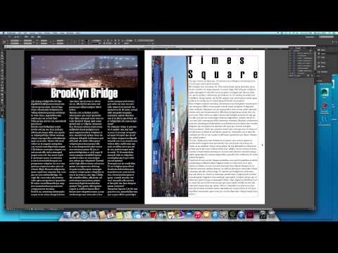How To...Create a Magazine in Adobe InDesign CC For Legit Begginers...in Under 10 minutes