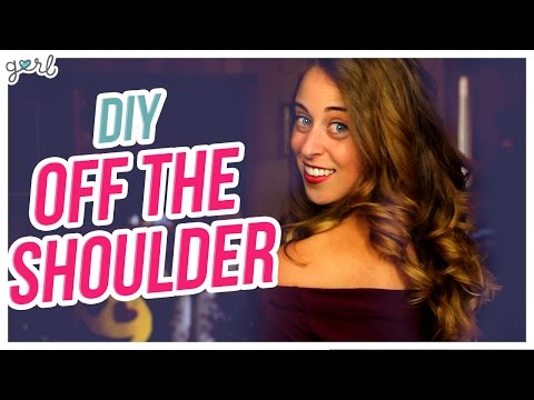 Do It, Gurl – DIY Off-The-Shoulder Top