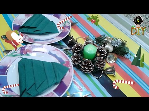 How To Fold Paper Napkin For Christmas Feast Tutorial
