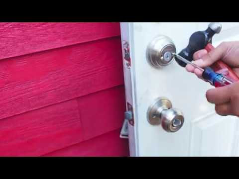 How to Remove a Kwikset Double Cylinder Deadbolt Lock